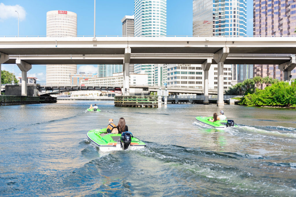 Outdoor activities in Tampa - rent a mini boat