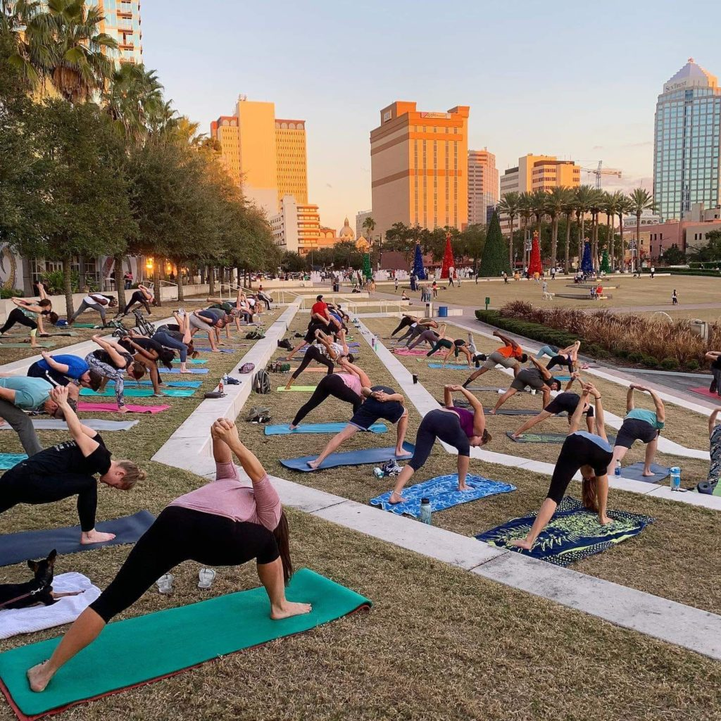 free Sunday yoga downtown Tampa