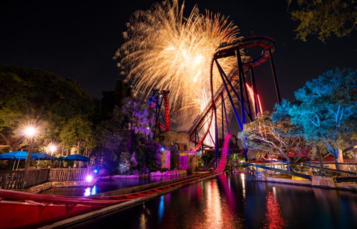 Busch Gardens Summer Nights fireworks