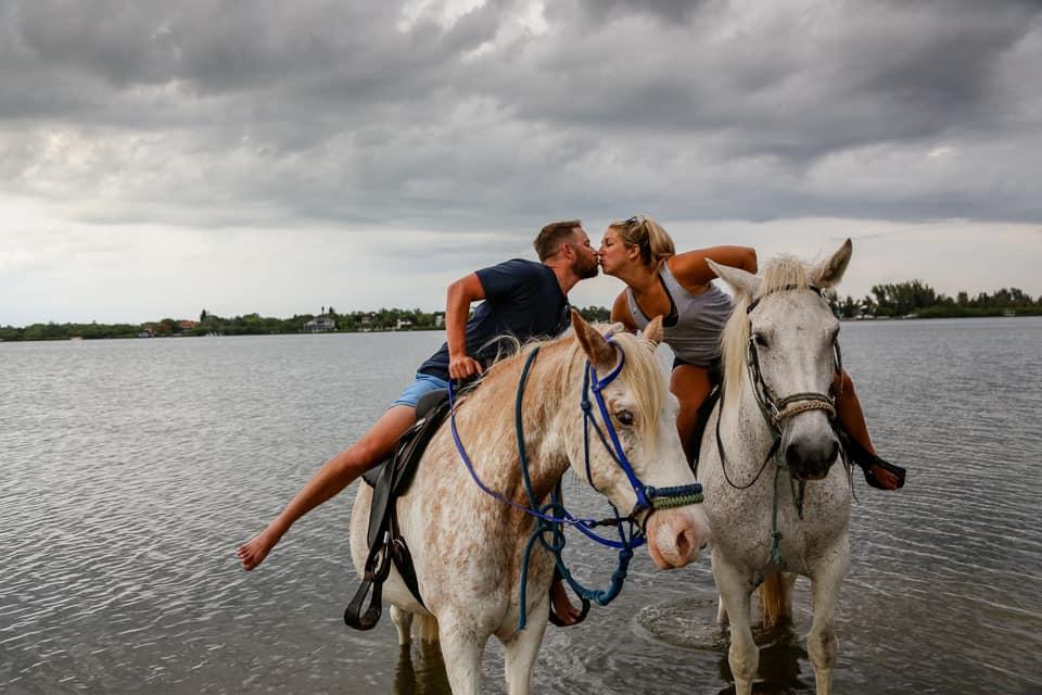 Beachfront horseback ride - Date night ideas in Tampa Bay