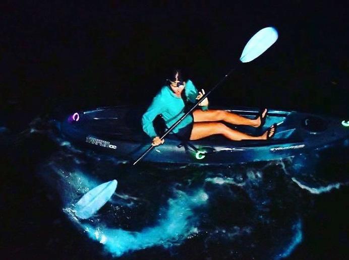 Bioluminescent kayaking tour with Cocoa Kayaking